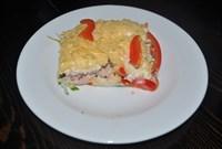Салат Коктейль с курицей, ветчиной и сыром  125 гр