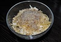 Слоеный салат с курицей и грибами 125 гр