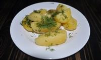 Картофель отварной с зеленью 150 гр