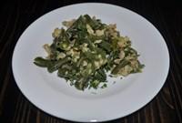Зеленое лобио с яйцом 125 гр