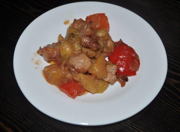 Курица по-тайски с ананасами 125 гр - фото 4862