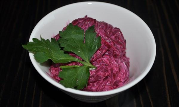 Салат свекла с чесноком 125 гр - фото 4962