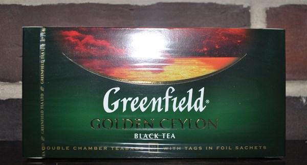 Чай Greenfield Golden Ceylon 25 пакетов - фото 5005