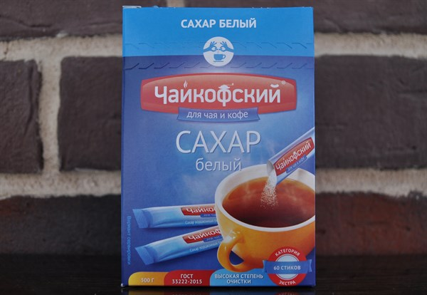 "Сахар белый ""Чайкофский"" 60 стиков - фото 5008"