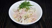 Салат овощной с колбасой 125 гр
